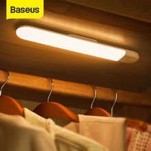 Baseus Under Cabinet Light PIR LED Motion Sensor Light Rechargeable Night Light LED Lamp For Wardrobe Kitchen Bedroom Closet
