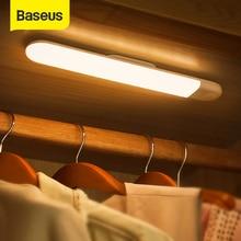 Baseus Onder Kast Licht Pir Led Motion Sensor Licht Oplaadbare Nachtlampje Led Lamp Voor Garderobe Keuken Slaapkamer Kast