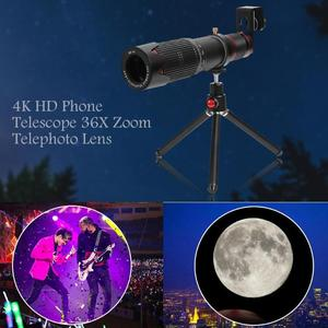 Image 5 - ALLOYSEED Universal 4K HD 36X Optical Zoom Camera Lens Telephoto Lens Mobile Telescope Phone for Smartphone Cellphone lente New