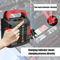 Горячее предложение 350 Вт 12 В/24 В 200 мАч портативное зарядное устройство для аварийного электромобиля Интеллектуальный ABS ЖК аккумулятор 2 ре...
