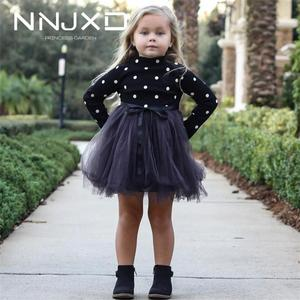 Baby Girl Kids Dresses For Girls Long Sleeve Polka Dot Children Autumn Winter Clothing Costume Casual Kids School Clothes(China)