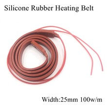 25mm 12V 24V 36V 110V 220V Silicone Heating Cable Silicone Rubber Wrap Heat Belt Wire Mat Pad Plate Round Resistant Insulation(China)