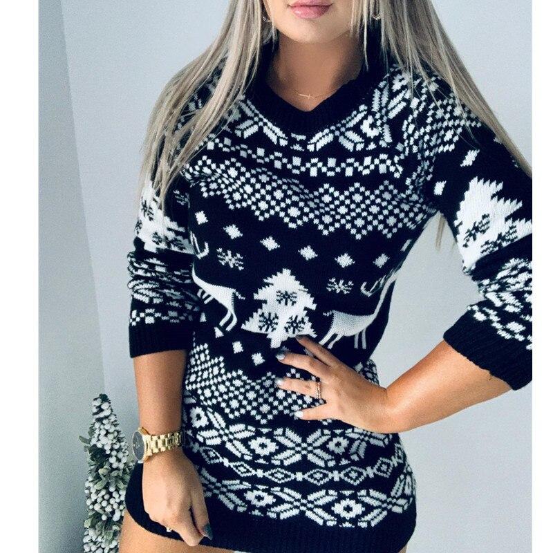 Новинка Осень зима 2020 вязаный свитер женское вязаное рождественское