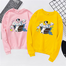 Fashion Women shirts new Autumn Spring Streetwear cartoon animal Dalmatian Dog shirt Long Sleeve t-shirt women Clothing S-XXXL
