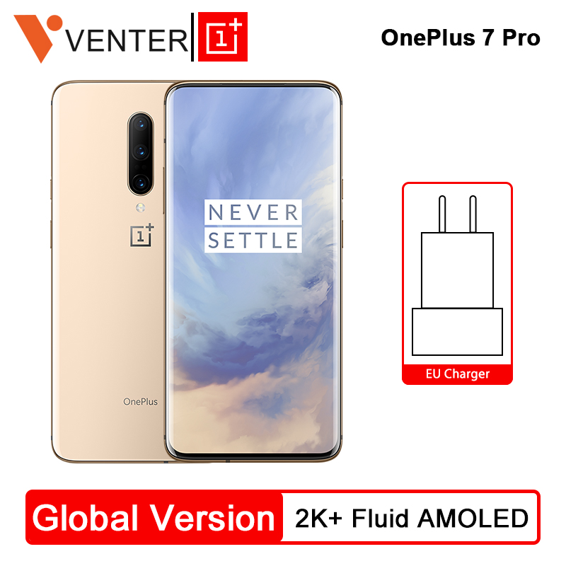 Global Version Oneplus 7 Pro Mobile Phone 8GB 256GB Snapdragon 855 6.67 90GHz 2K Screen 48MP NFC Android 9