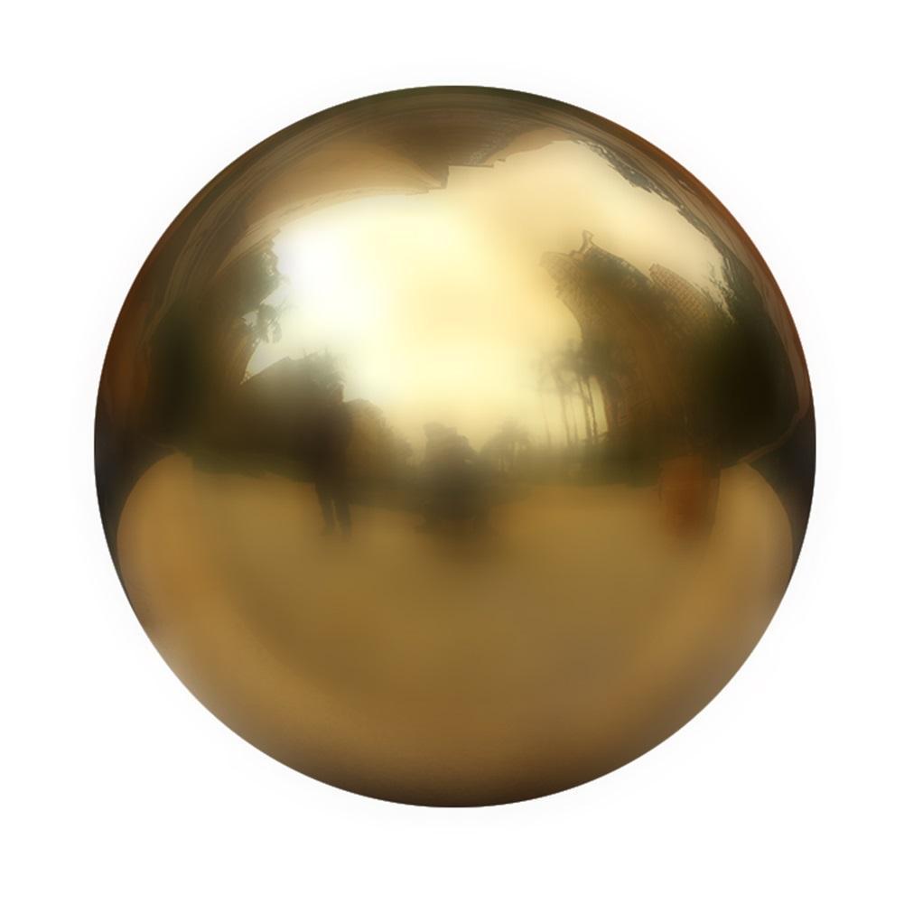 25-120 мм нержавеющая сталь титановый золотой серебряный полый шар бесшовное украшение для дома и сада зеркальный шар сферические вечерние украшения - Цвет: Gold 100mm