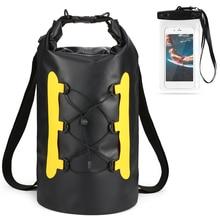 15л Водонепроницаемая сухая сумка с чехол для телефона, сумка для плавания, сумка для плавания, сухой мешок для Каяка, катания на лодках, рыбалки, серфинга, рафтинга, речного треккинга