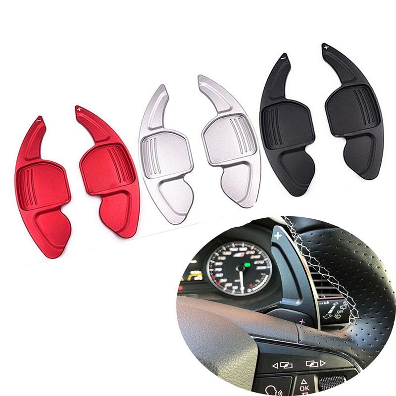 AUDI için A3 S3 A4 S4 B8 A5 S5 A6 S6 A8 R8 Q5 Q7 TT DSG araba direksiyon uzatma shifters Shift alüminyum vites kürekler 2 adet