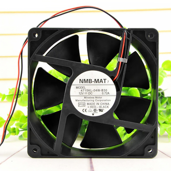 For NMB 12CM cooling fan 4715KL-04W-B30 12V 0.72A 12038 120*120*38mm new original ebm papst dv4118 2npu dc48v 0 46a 120 120 38mm 12cm ip54 cooling fan typ4118n 6xmv 4 5w typ4118n