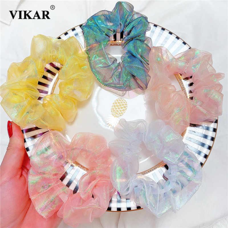 Diy Hairband Girls Floral Cloth Chiffon Women Headwear Fashion Accessory Hair Y3