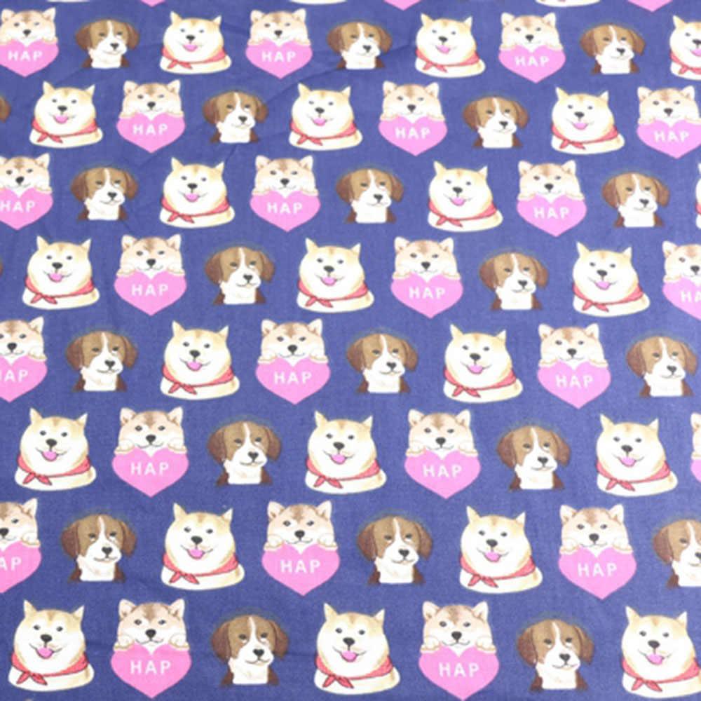 Sevimli köpek baskılı hayvanlar için % 100% pamuklu dimi kumaş bebek çocuk, dikiş kapitone yatak çarşafı kumaş el yapımı Patchwork kumaş