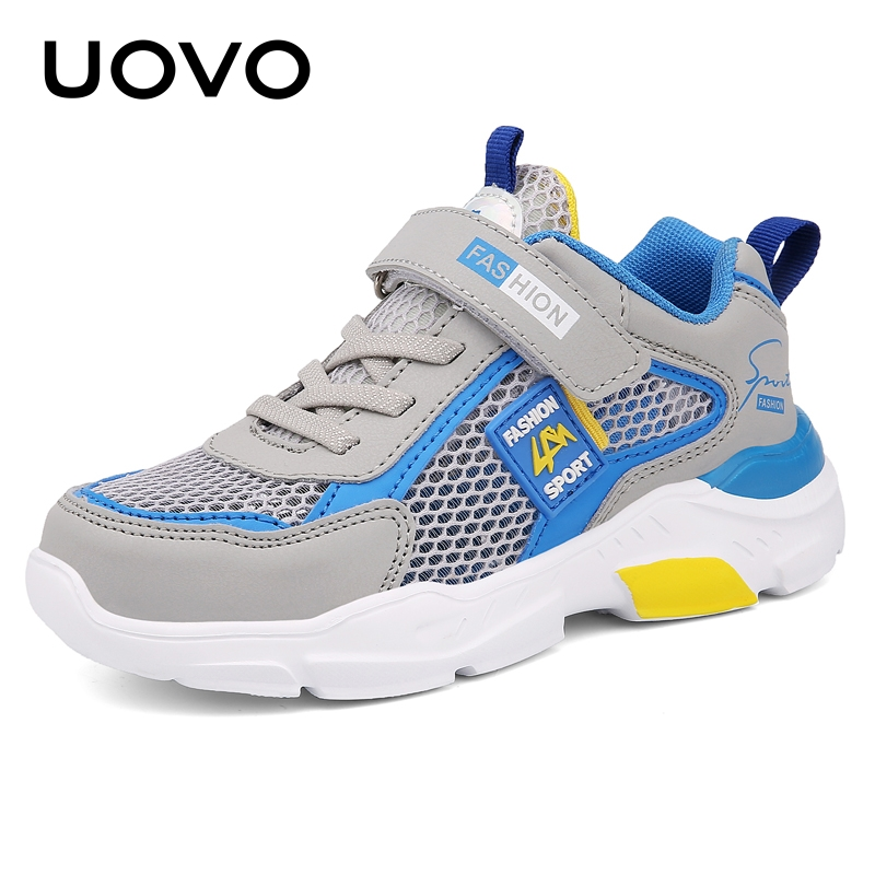 UOVO Kids Summer Shoes Boys And Girls Running Shoes Sport Breathable Mesh Shoes Fashion Children Sneakers #28-39