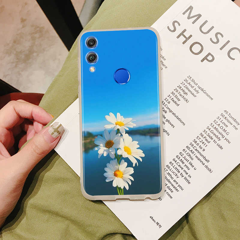 電話ケース Huawei 社の名誉 V30 9X 8X 10i 10 9 Lite シェル夏デイジーひまわりため 9N 8 8S 8 7C 7A プロカバー