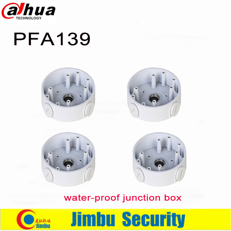 DAHUA Water-proof Junction Box PFA139  4pcs/lot IP Camera HDCVI Dome Camera Brackets CCTV Accessories  Aluminum Size 108x28.5mm