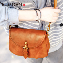 EUMOAN Handmade retro old handmade leather shoulder oblique diagonal bag casual small Sen Ms. female models