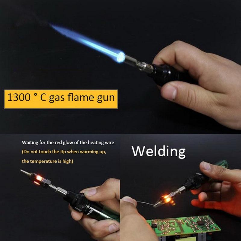 Butane Gas Welding Soldering Irons Welding Pen Burner Blow Torch Gas Soldering Iron Cordless Butane Tip Tool