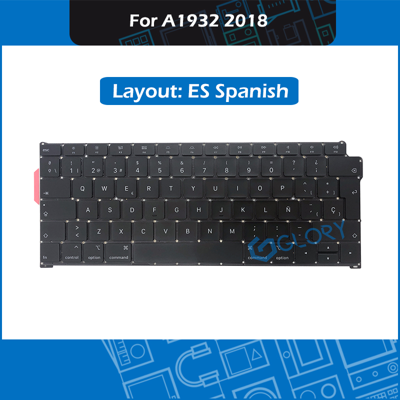 New A1932 Keyboard ES Spanish Layout For font b Macbook b font Air 13 3 Late