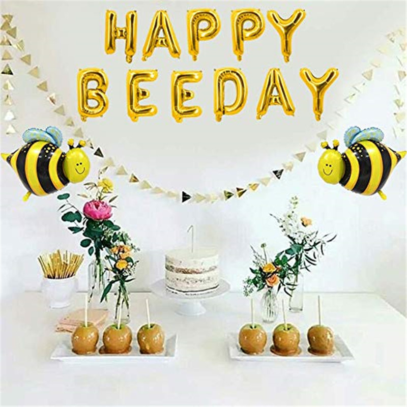 Mommy To <font><b>Bee</b></font> Baby Shower Decorations Bumble <font><b>Bee</b></font> Disposable Tableware Set Kids Birthday <font><b>Party</b></font> Decor <font><b>Supplies</b></font> Kids Gift image