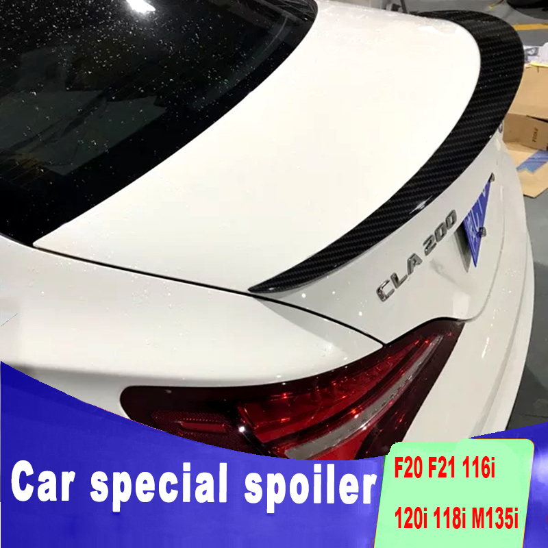 high quality Carbon fiber <font><b>spoilers</b></font> for benz CLA W117 <font><b>CLA200</b></font> CLA220 CAL260 rear trunk wing ABS <font><b>spoiler</b></font> by 2013 to 2018 + up paint image