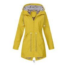 Женские куртки для улицы, одноцветные дождевики, водонепроницаемый плащ с капюшоном, ветронепроницаемое пальто для кемпинга, пешего туризма