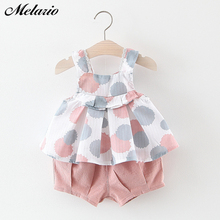 Melario Baby Clothing Sets 2019 Girls Newborn Dress Clothes New Cute Sleeveless Girl + PP Pants infant Kids
