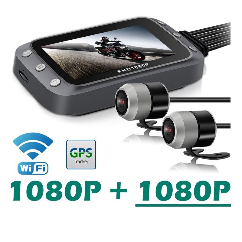 Motorcycle DVR Dash Cam WiFi Full HD Front Rear 10