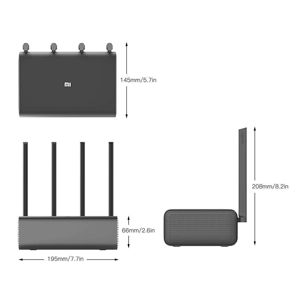 Routeur Xiao mi mi Pro R3P 1733Mbps Wi Fi Wi Fi routeur Wifi sans fil intelligent 4 antennes double bande 2.4Ghz 5.0Ghz dispositif réseau Wifi - 6