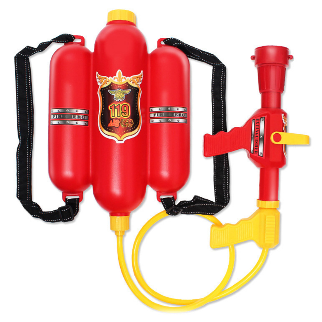 Fire Fighter Backpack Water Pistols Shooter Summer Water Blaster Toy For Children Kids Outdoor Lawn Summer Game Water Gun Toys