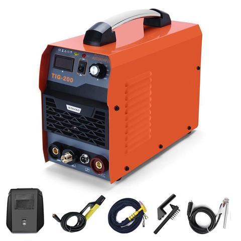 Máquina de Solda Led com Início Sungoldpower Soldador 110 v – 220 Igbt dc Inversor Mma Vara Digital Display hf 200a Tig 2in1