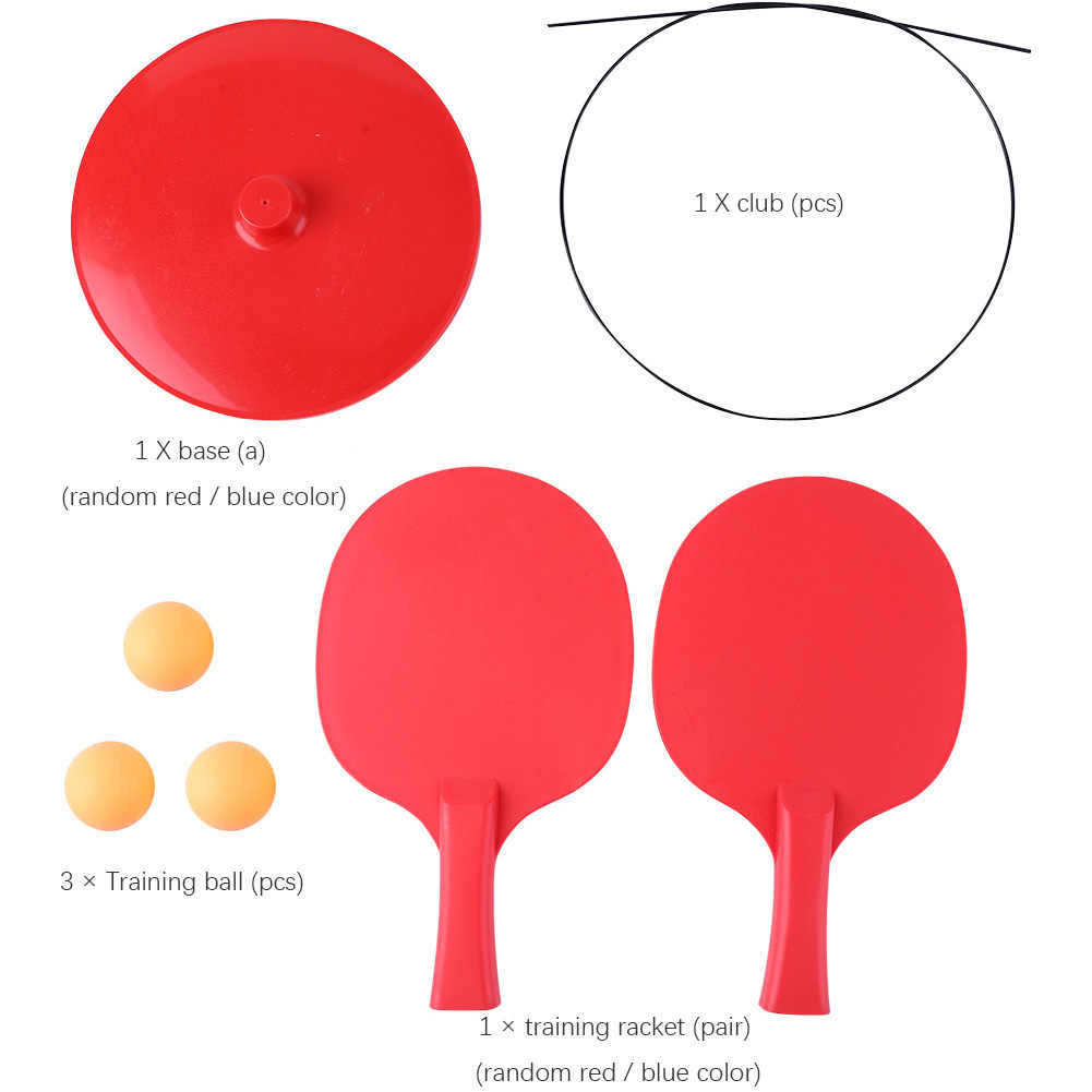 CW/_ Portable Table Tennis Trainer Racket Flexible Shaft Ping Pong Ball Training