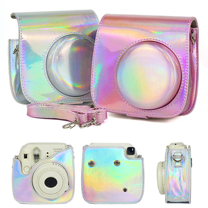 Image 5 - Shoulder Camera Protective Case Colorful Patterns Leather Camera Bag For Fujifilm Instax Polaroid Mini 8/ Mini8+/ 9 Handbags