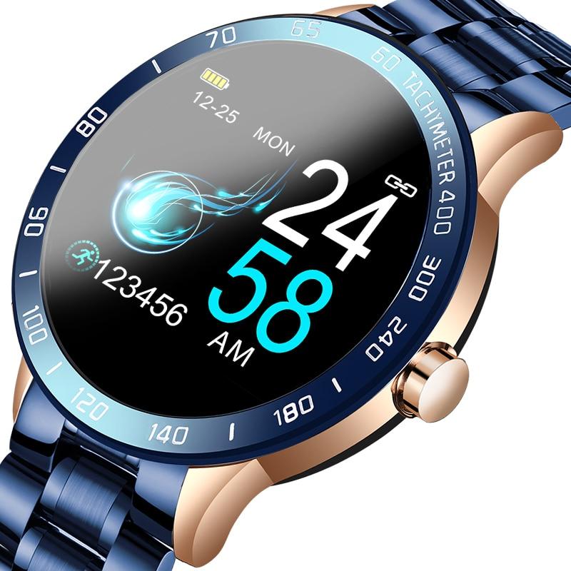 LIGE 2020 New Smart Watch Men LED Screen Heart Rate Monitor Blood Pressure Fitness tracker Sport Watch waterproof Smartwatch Box