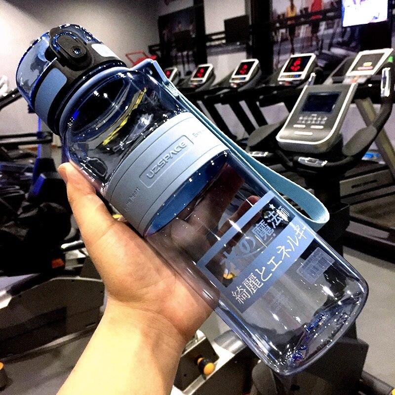 UZSPACE Water Bottle 1000ML Outdoor Sports Gym Drink Bottle Adult Portable Leakproof Eco friendly Plastic School Bottle BPA Free|Water Bottles|   - AliExpress