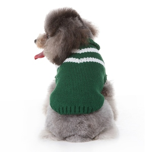 Warm Dog Stripes Sweater Coats with High Collar for Winter Autumn Pet Dogs Clothes