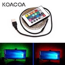 5 В USB Светодиодная лента светильник RGB 2835SMD гибкий светодиодный светильник лента 1 м 2 м 3 м 4 м 5 М HD ТВ Настольный экран подсветка косой светильник ing