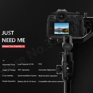 Image 4 - Moza 空気 2 3 軸カメラデジタル一眼レフミラーレスカメラ用キヤノン 5D2/3/4 サーボフォローフォーカス AIR2 vs feiyu AK4000 dji 浪人 s