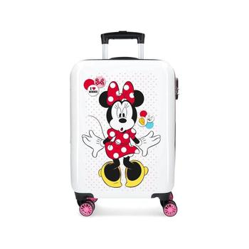 Cabin suitcase rigid ABS Minnie Enjoy the Day Love white. Free shipping log cabin suitcase man spider dimensions 55x38x20cm free shipping