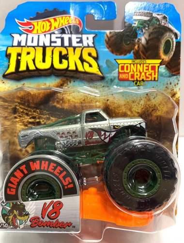 1: 64 оригинальные горячие колеса гигантские колеса Crazy Barbarism Монстр металлическая модель грузовика игрушки Hotwheels большая ножная машина детский подарок на день рождения - Цвет: 50 V8 BOMBER