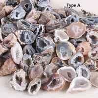 1PC Natural Agate Geode Slice Drusy Druse Quartz Crystal Cluster Minerals Reiki Healing Crystal Decoration Wealth Agate Slice