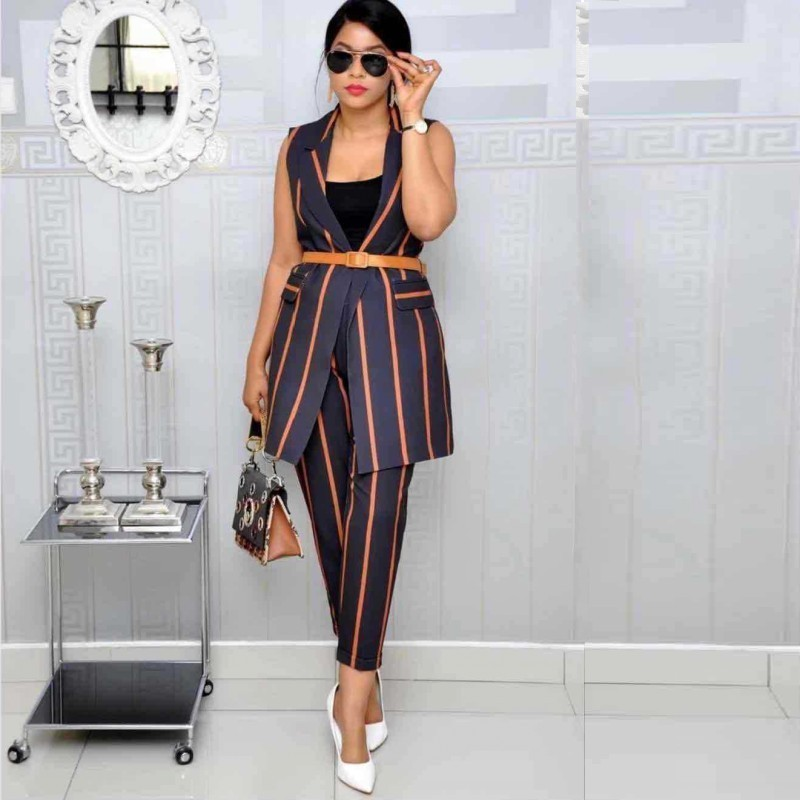 2 Piece Set Africa Clothes African Dashiki New Dashiki Fashion Suit  Top And Trousers Party Plus Size For Lady