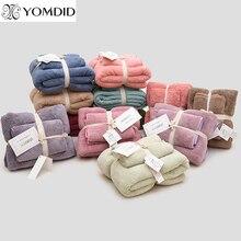 12 Colors 2pcs Towel Microfiber Fabric Towel Set Plush Bath Face Hand Towel Quick Dry Towels for Adult kids bath Super Absorbent