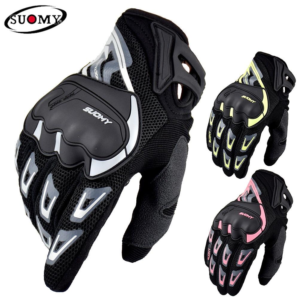 SUOMY летние мотоциклетные перчатки с сенсорным экраном, Перчатки для мотоциклистов, велосипедные перчатки с полными пальцами