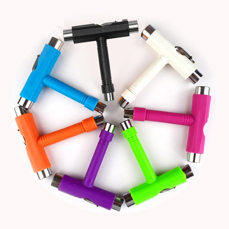 T тип гаечный ключ разборные инструменты аксессуары использовать для катания на роликах скутер скейтборд инструменты Торцевой ключ DIDIHOU ...