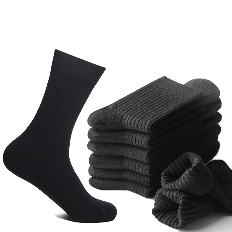 High Quality 100% Combed Cotton Men Dress Socks Bigger Plus Size43-46Thicken Autumn Winter Warm Compression Socks For Men Gift