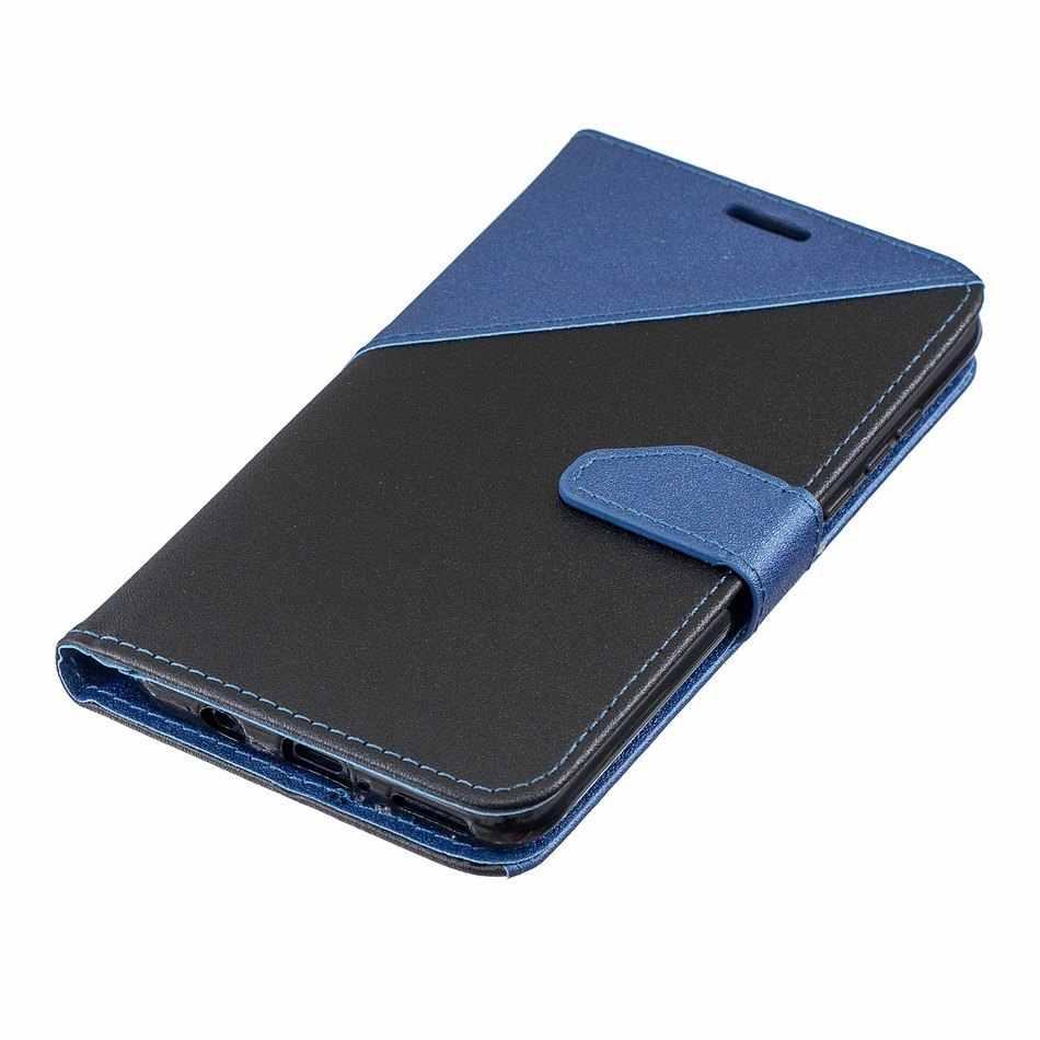 التباين اللون ماتي حالة ل Redmi 5A 7 ملاحظة 7 لطيف كابا ل Xiaomi 5X6X6 A1 a2 أكياس الهاتف المحفظة فليب Fundas فتحة للبطاقات D09E