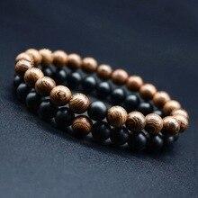 Hot 2pcs/set Mix Style Couples Distance Bracelet Natural Stone Yoga Beaded for Men Women Friend Gift Charm Strand
