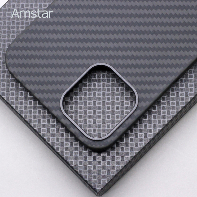 Amstar Real Carbon Fiber Phone Case for iPhone 12 Pro Max Ultra Thin Anti-fall Carbon Fiber Hard Cover Cases for iPhone 12 Mini 3
