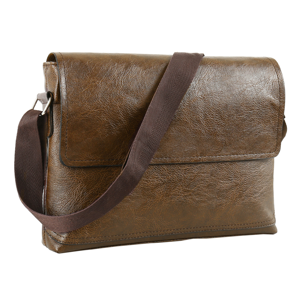 Fashion Male PU Leather Messenger Bags For Man Casual Business Vintage Crossbody Bag