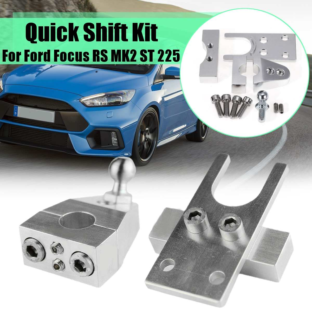 1Set Car Billet Stainless Steel Quickshift Race Rally Quick Shift Kit For Ford For Focus RS MK2 ST 225 Es70150 Accessories
