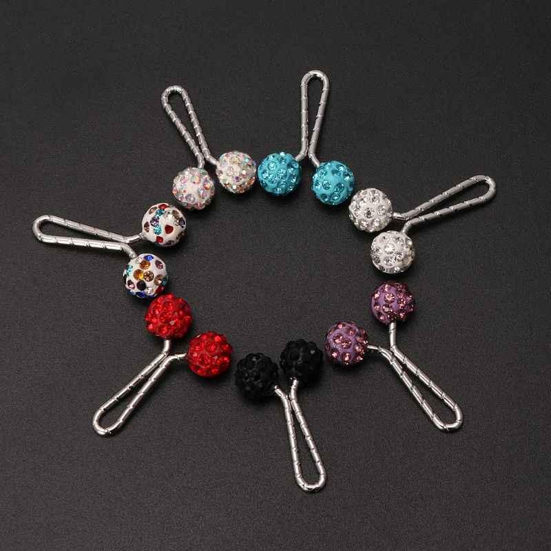 Agrafka muzułmański hidżab klips na szalik Pin kryształowa kula broszka biżuteria